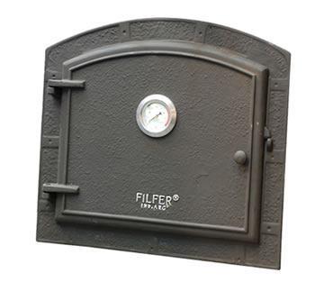Puerta fundicion para horno barro